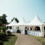 Specially decorated garden for a special event